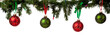 canvas print picture - Christmas ornament hanging from garland