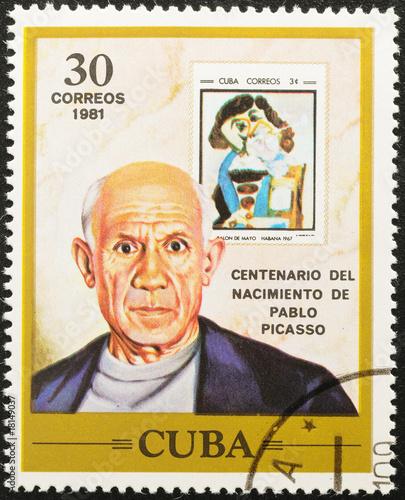 Fotomural  CUBA - CIRCA 1981. Pablo Picasso