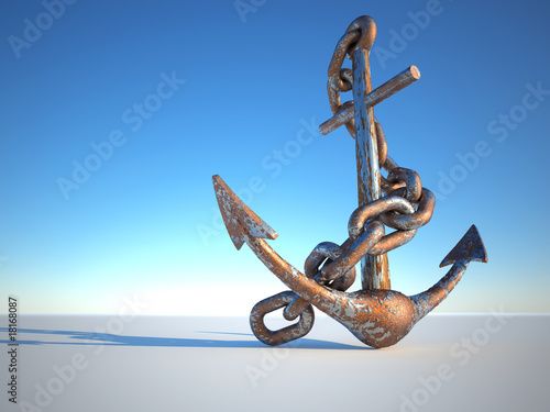 Cuadros en Lienzo Rusty anchor