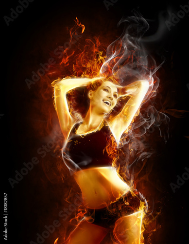 Photo sur Aluminium Flamme flamy symbol