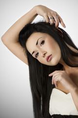 black and white asian girl