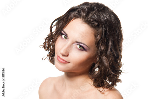 Portrait of a beautiful young brunette woman Canvas-taulu