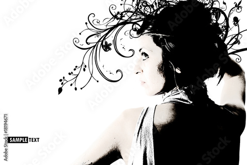 Floral femme Ragazza, Profilo di donna
