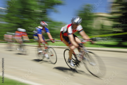 Fotografie, Obraz  Bicycle race in Edmonton, Alberta.