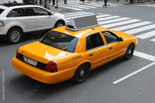Deurstickers New York TAXI New York city cab