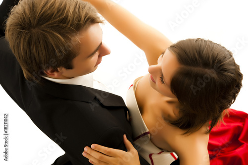 Foto op Plexiglas Dance School tanzendes Paar