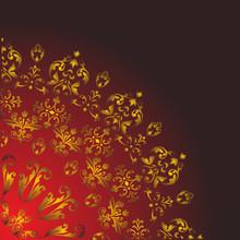 Floral Quadrant On Dark Backgr...