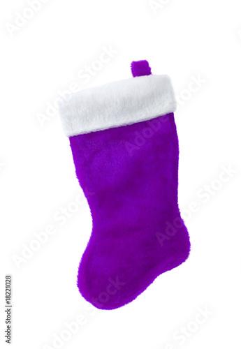 dark purple christmas stocking isolated on white background - Purple Christmas Stocking
