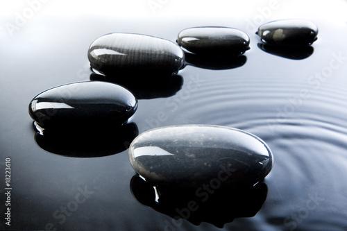 Fotografie, Obraz  Pebbles in Water