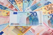 Tas De Billets En Euros