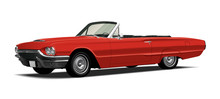 1960's Vintage Convertable, Red
