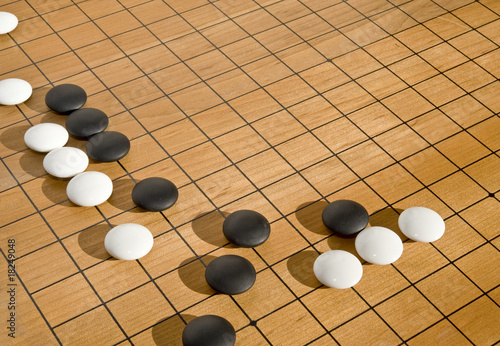 Recess Fitting Light, shadow A cluster of stones in the game of go