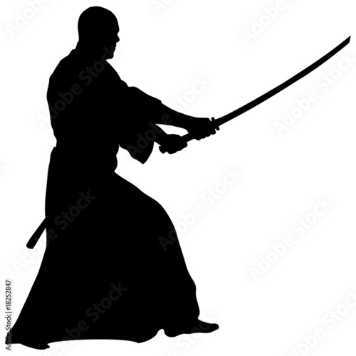 KENDO,IAIDO with SWORD KATANA - Buy this stock illustration