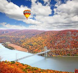 Obraz The foliage scenery at Hudson River region