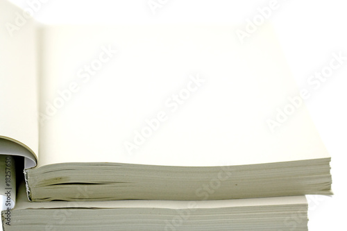 Livre Blanc Ouvert Fond Blanc Buy This Stock Photo And
