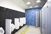 Public Toilet With Cubicles An...