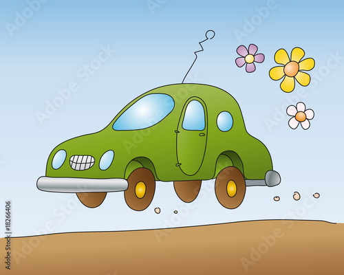Canvas Prints Cars automobile ecologica