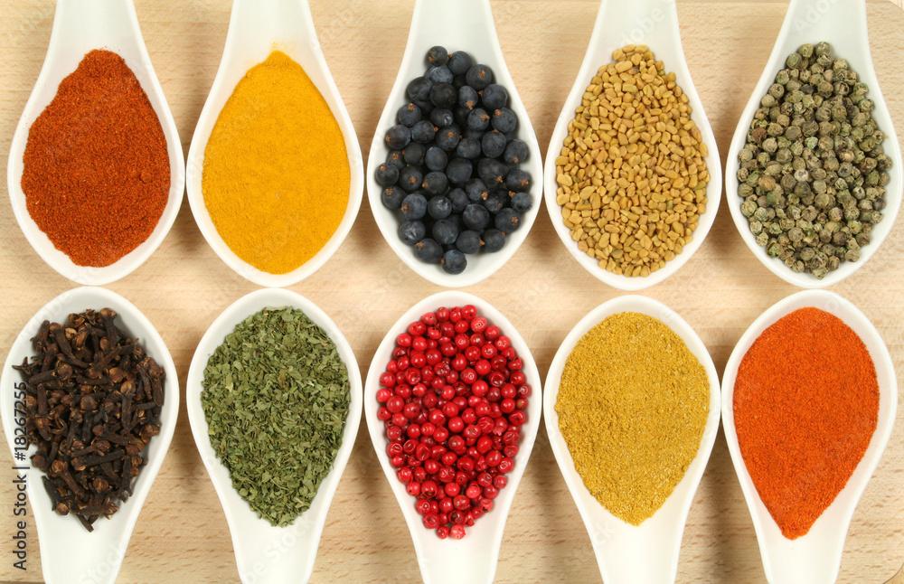 Fototapeta Colorful spices