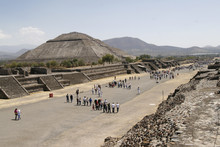 """""""Avenue Of The Dead"""" In Teotihuacan Pyramid Complex In Mexico"""