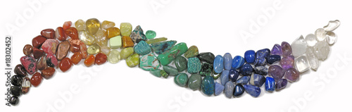 Photo Banner of tumbled stones in curve shape