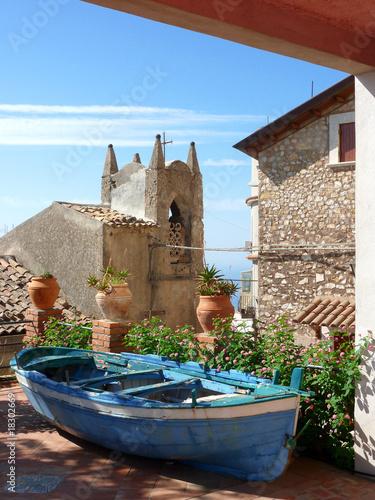 Fotografie, Obraz  Village in Castelmola, sicily