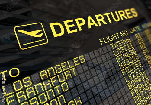 Fotografia International Airport Departures Board
