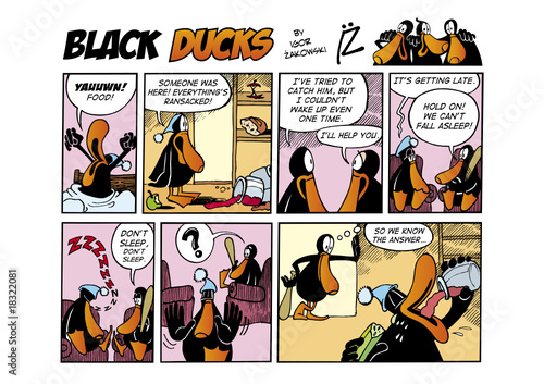 Foto op Plexiglas Comics Black Ducks Comic Strip episode 32