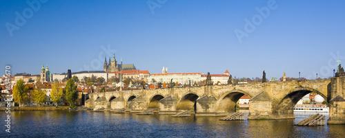 Photo sur Toile Prague Prague Castle with Charles bridge, Prague, Czech Republic