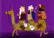 tres reyes magos en un camello