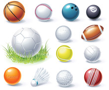 Vector Sport Equipment Icons