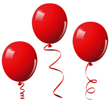 Vector Illustration Of Red Balloons