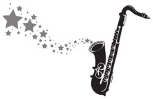Saxophone With Stars Shooting ...