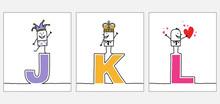 Cartoon Alphabet - J K L
