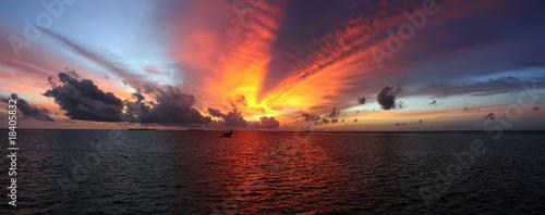 Photo Sonnenuntergang auf den Malediven