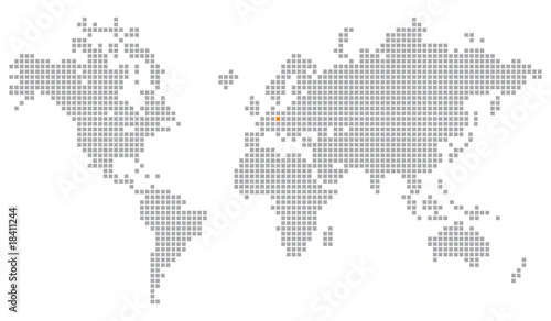 Türaufkleber Weltkarte Pixelglobus