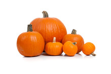 Assorted Pumpkins With Straw O...