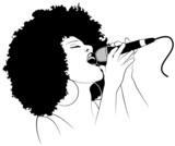 Ilustracja wektorowa piosenkarza jazzowego - 18427462