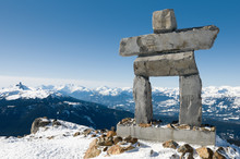 Inukshuk At The Top Of Whistle...