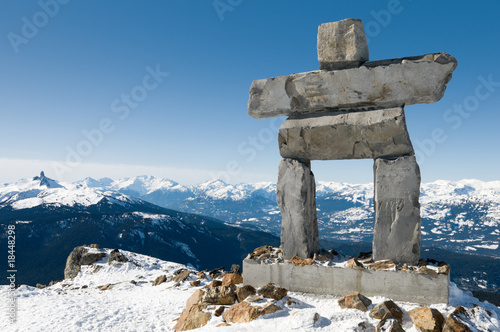 Recess Fitting Canada Inukshuk at the top of Whistler Mountain, site of 2010 Winter Ol