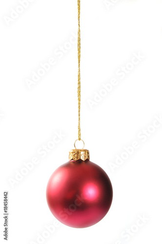 red christmas bauble Canvas Print