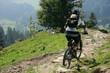 Mountainbiker in den bayerischen Alpen