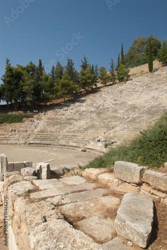 In de dag Rudnes Ancient theater at Argos, Peloponnese, Greece