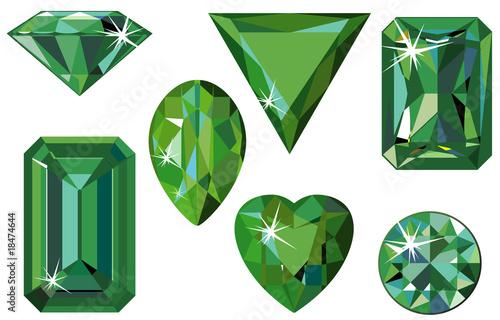 Different cut emeralds Canvas Print