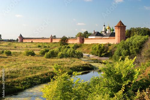 Spoed Foto op Canvas Wit Monastery of Saint Euthymius (Suzdal)
