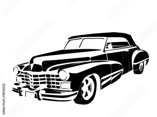 old vintage car Fototapete