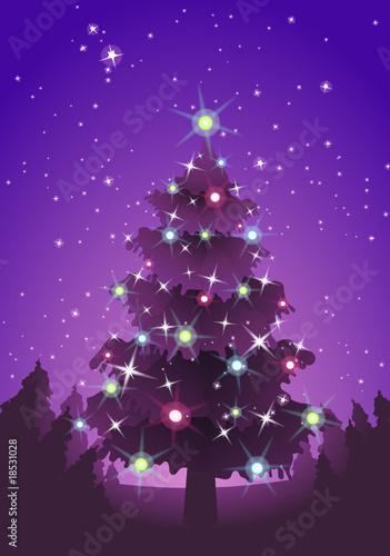 Cadres-photo bureau Violet Sapin de Noël rose violet