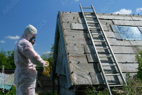 Asbestos disposal Wallpaper Mural