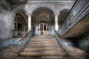FototapetaOld stairs in Beelitz