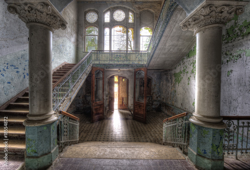 Photo Stands Old Hospital Beelitz Eingang ins Sanatorium Beelitz