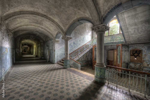 Photo Stands Old Hospital Beelitz Old Hospital in Beelitz